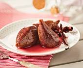 Figs Poached In Spicy Red Wine