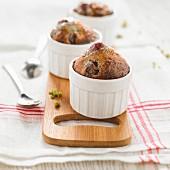 Cherry And Pistachio Soufflées
