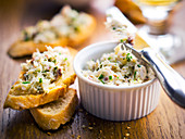 Mackerel and herb paté