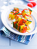 Summer vegetable brochettes