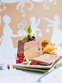 Christmas spicy duck foie gras terrine and Muscat de Rivesaltes