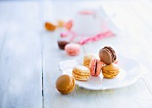 Assortment of Macarons :coffee, vanilla, raspberry and chocolate