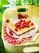 Tutti frutti, raspberry and mango tiramisu