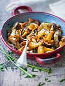 Mixed mushrooms with fresh herbs