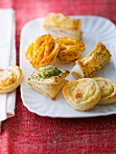 Assortment of puff pastry appetizers