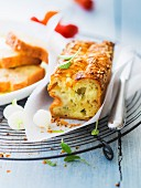 Blue cheese honey and rosemary savoury cake