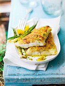 Cod fillets in almond crust
