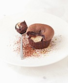 Chocolate and eggplant fondant