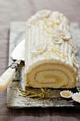 Easter Lemon Roll Cake