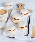 Vanilla, tonka bean and coffee Macarons