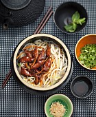 Caramelized pork and bean sprout broth bo-bun