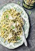 Trofie au pistou (traditionelle Nudeln aus Ligurien mit Pesto)