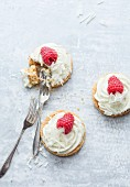 White Chocolate and Raspberry Shortbread Tartlet