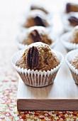 Pumpkin and pecan muffins