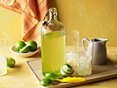 Homemade lime cordial