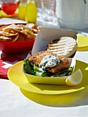 Fish burger with tartare sauce