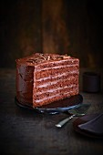 All chocolate layer cake