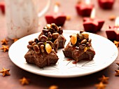 Dried fruit and nutty star brownies