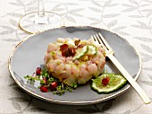 Sea bass tartare with lime and pear