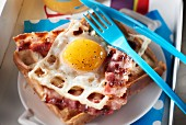 Croque-Madame-style waffle
