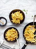 Fusilli with butternut squash and cheesy cream sauce