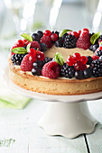 Fromage blanc and summer fruit tart