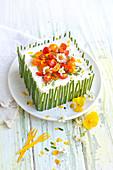 Easter sandwich cake