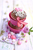 Chocolate and coconut Easter cupcakes
