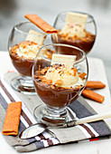 Chocolate,chestnut and vanilla ice cream trifle with Gavottes