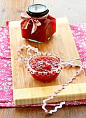 Raspberry and pepper jam