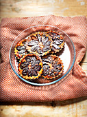 Quetsch plum and cinnamon tartlets