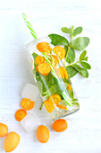 Kumquat and mint detox water