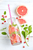 Grapefruit, pomegranate and mint detox water