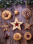 Variety of Christmas biscuits