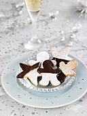 Christmas ginger shortbreads half dipped in chocolate