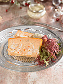 Seafood terrine with seaweed