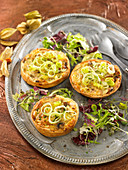 Small leek quiches