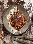 Beef fillet with chestnut sauce