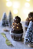 Mini Christmas Chocolate and Rock Cupcakes