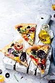 Vegetarian Pizza With Purple Potatoes