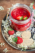 Strawberry jam with eldelflowers