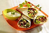 Tortilla-Wraps mit Rindfleischfüllung