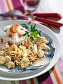 Breton-style squid and basmati rice