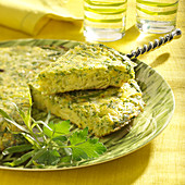Leek and herb savoury cake
