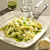 Penne with pistou
