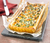 Carrot, parsley and cumin quiche