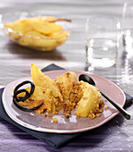 Pear-licorice crumble