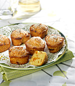 Small apricot sponge cakes
