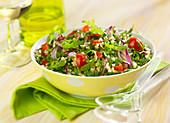 Rocket lettuce tabbouleh