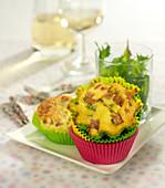 Hénaff paté and chive savoury cupcakes